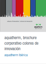 Brochure corporativo colores de innovación