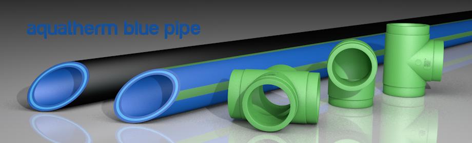 Componentes del sistema de tuberías Aquatherm Blue Pipe