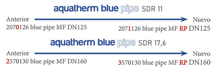 aquatherm blue pipe cambio de nomenclatura