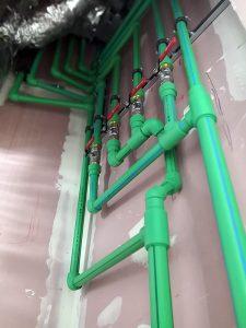 Instalación en el Edificio Canalejas con tuberías de agua fría y caliente Aquatherm Green Pipe, imagen 1