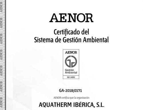 Aquatherm Ibérica S.L. obtiene sus certificaciones en los Sistemas de Gestión de Calidad ISO 9001, ISO 14001 y OHSAS 18001